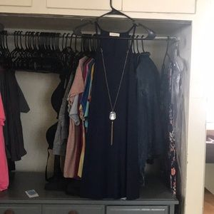 New navy blue dress with halter top